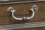 Traditional Copper Finished Bail Pulls Found on Drawers Throughout Collection