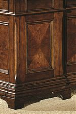 Wood Paneling and Bracket Feet Show Off Traditional Style
