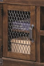 Wire Door Fronts Instill Pieces with Industrial Style