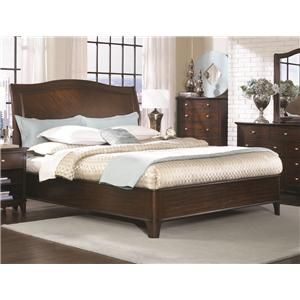 Aspenhome Lincoln Park Queen Bed with Sleigh Headboard & Two-Drawer Storage Footboard