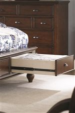 Full-Extension Drawers, Even Offered in the Footboard, Supply Ample Organization Space