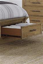 Cedar-Lined Footboard Storage