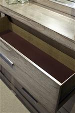 Felt-Lined Top Drawers Protect Delicate Items