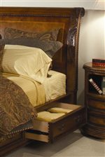 Storage Drawer Featured on Storage Sleigh Bed
