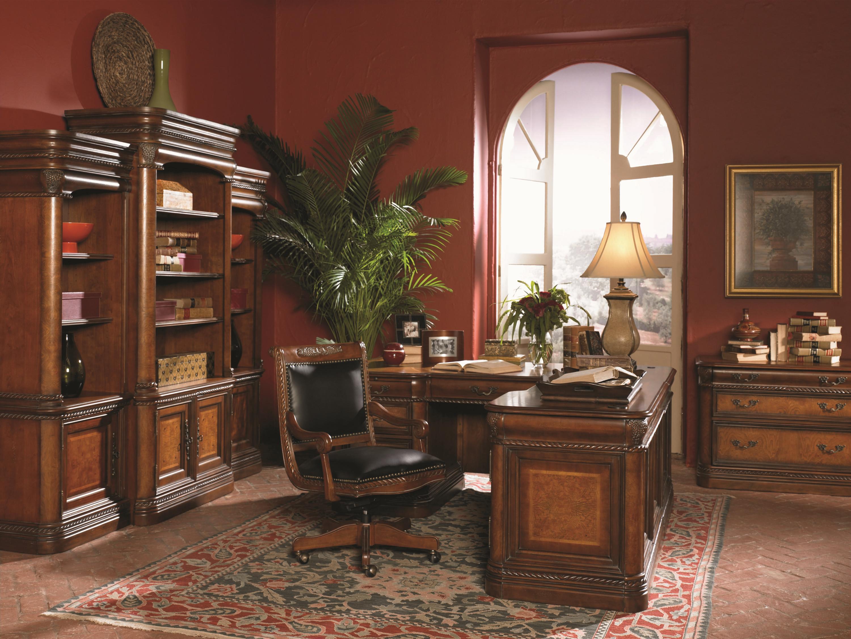 Aspenhome Warm Cherry Executive Modular Home Office: Napa (i74) By Aspenhome