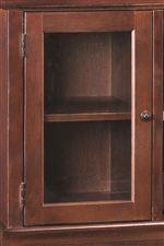 Wood Framed Swinging Glass Doors Display Any Home Decor
