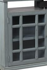 Window Pane Glass Doors Showcase Vintage Charm
