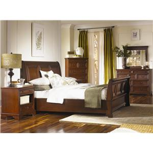Aspenhome Richmond Queen-Size Platform Bed with Sleigh Headboard & Storage Footboard