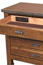 USB and AC Outlets in Top Drawer of Bedside Chest