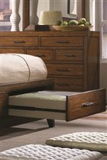 Spacious Storage Drawers Slide Smoothly & Quietly Thanks to Stainless Steel Ball Bearing Drawer Glides