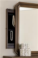 Functional features like jewelry storage and outlets add everyday utility