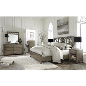 Aspenhome Tildon King Sleigh Bed with Panel Headboard