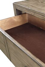 Felt-Lined Drawers Protect Valuable Items