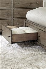 Footboard Drawer Storage