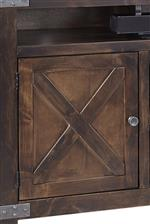 X Designs on Door Fronts Inspired by Barn Doors