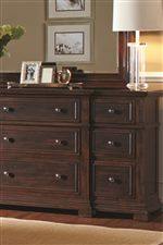 Framed Drawer Fronts and Breakfront Shapes Highlight Traditional Detailing