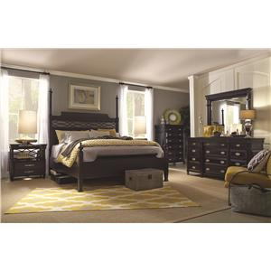 Morris Home Furnishings Youngstown King-Size Chesapeake Poster Bed