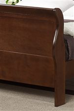 Curved Detail on Sleigh Bed