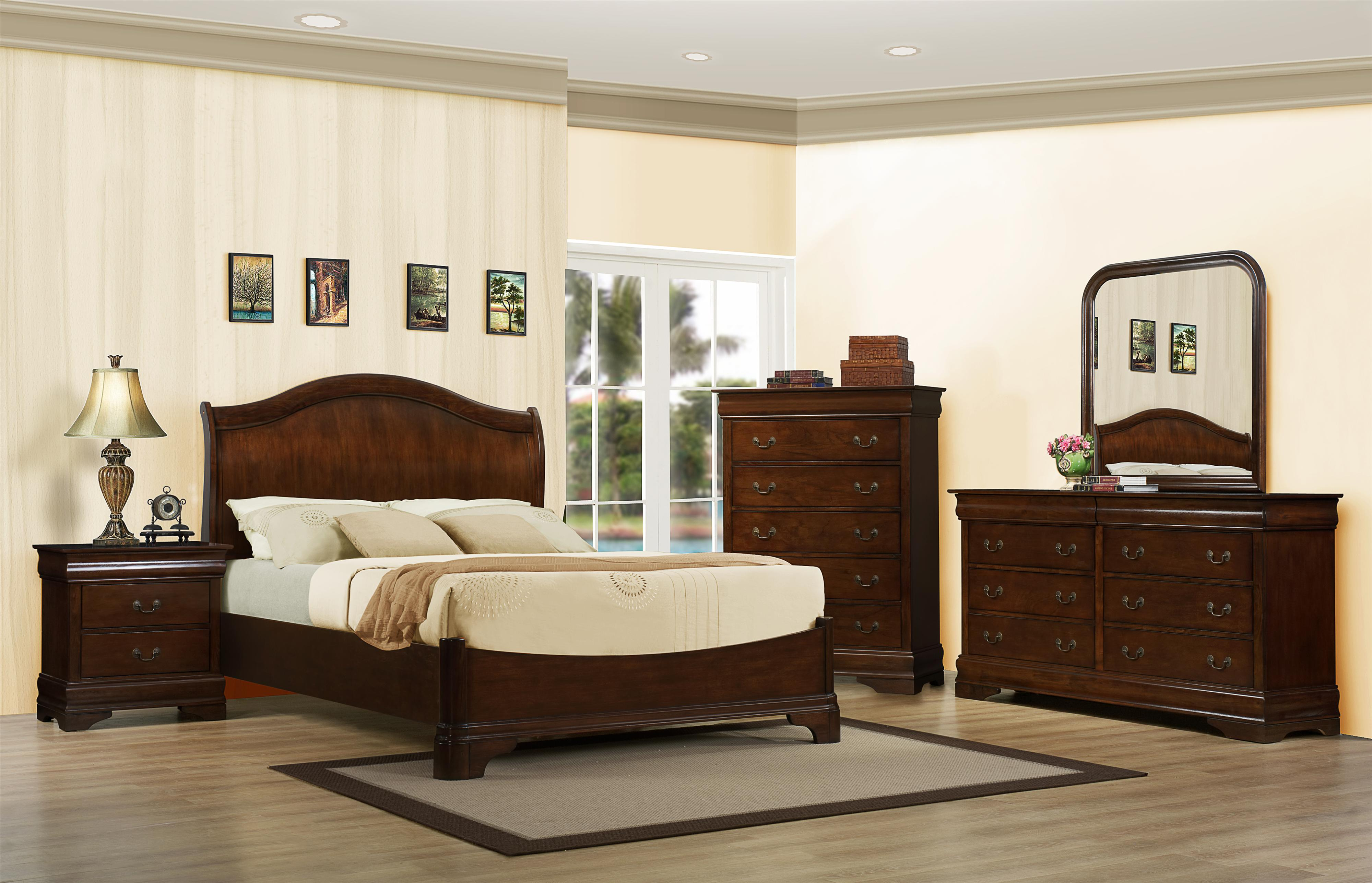 Austin Group Big Louis King Transitional Headboard Bed Bigfurniturewebsite Headboard Footboard