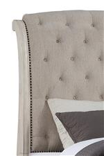 Button tufted upholstered headboard