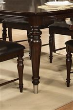 Traditional Turned Legs with Metal Ferrules on Dining Table