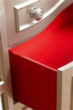 Red Interiors in the Drawers Provide a Striking Designer Accent