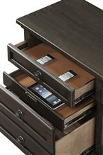 Convenience features like USB charging ports and felt-lined drawers add functionality to your furniture