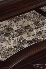 Marble veneer inlay top