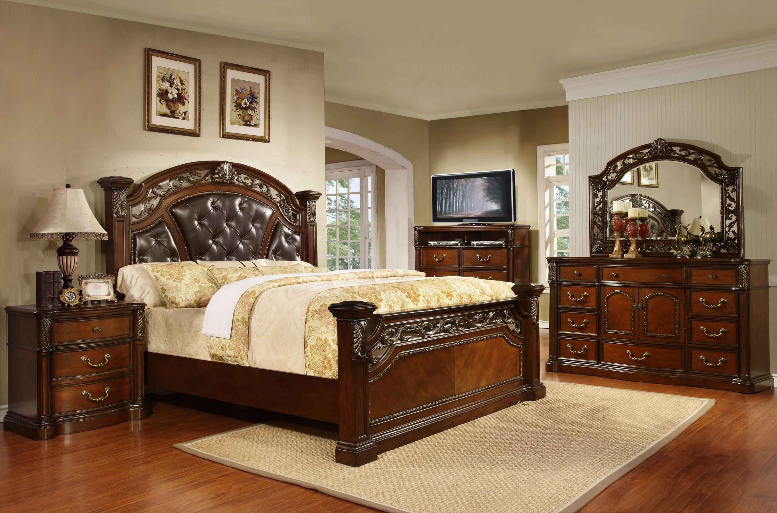 Queen Panel Bed W/ Acanthus Leaf Detailing   Vistoso By Avalon Furniture    Wilcox Furniture   Headboard U0026 Footboard Corpus Christi, Kingsville,  Calallen, ...