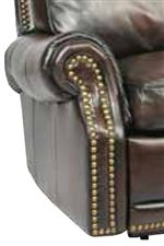 Traditional Rolled Arms with Nail Head Trim Provide a Classic Look of Furniture Elegance