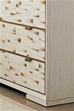 Bring character to your space with accenting textures of faux horn shown here on the Dry Creek Hall Chest
