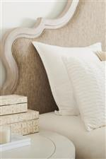 Beautiful, neutral tone fabrics add sophistication to upholstered pieces