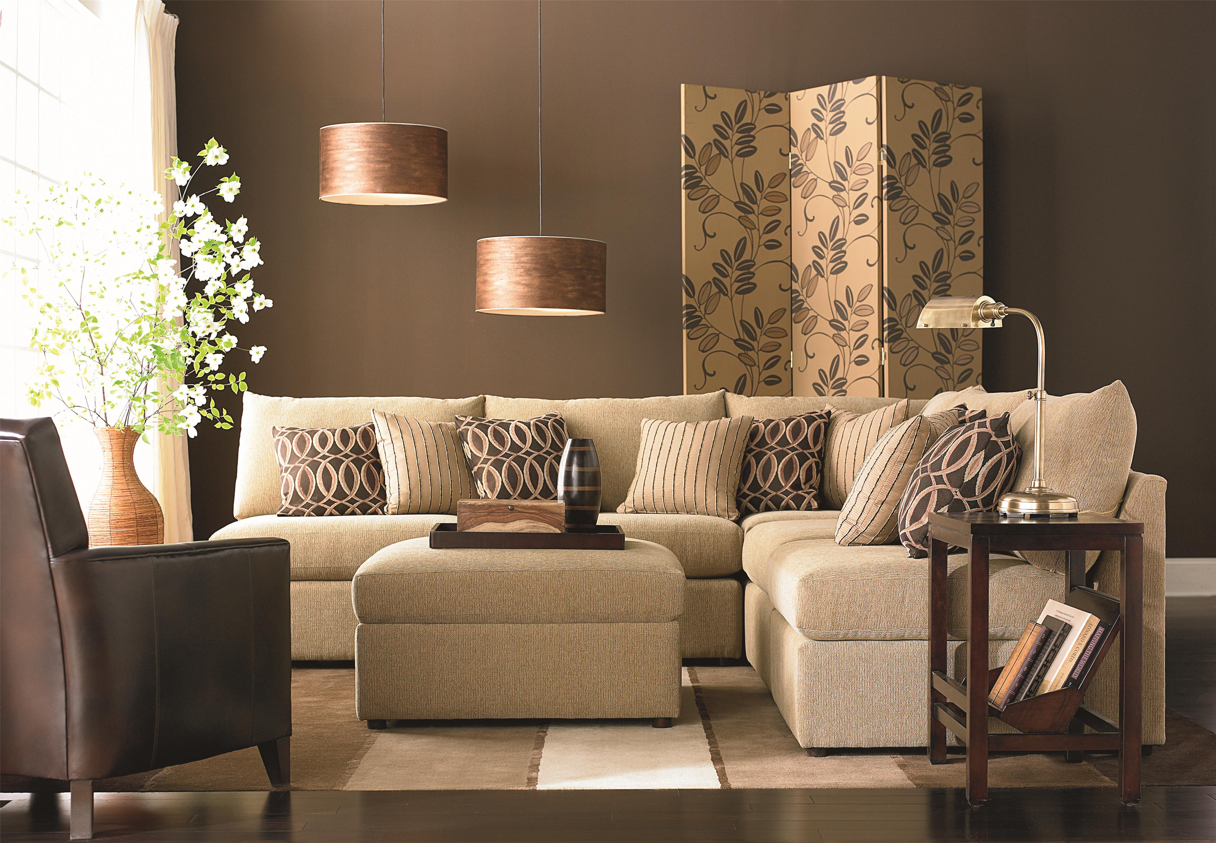 Bassett Beckham 3974 Transitional U Shaped Sectional With Loose Pillow Back  And Seat Cushions | DuBois Furniture | Sectional Sofas Waco, Temple,  Killeen, ...
