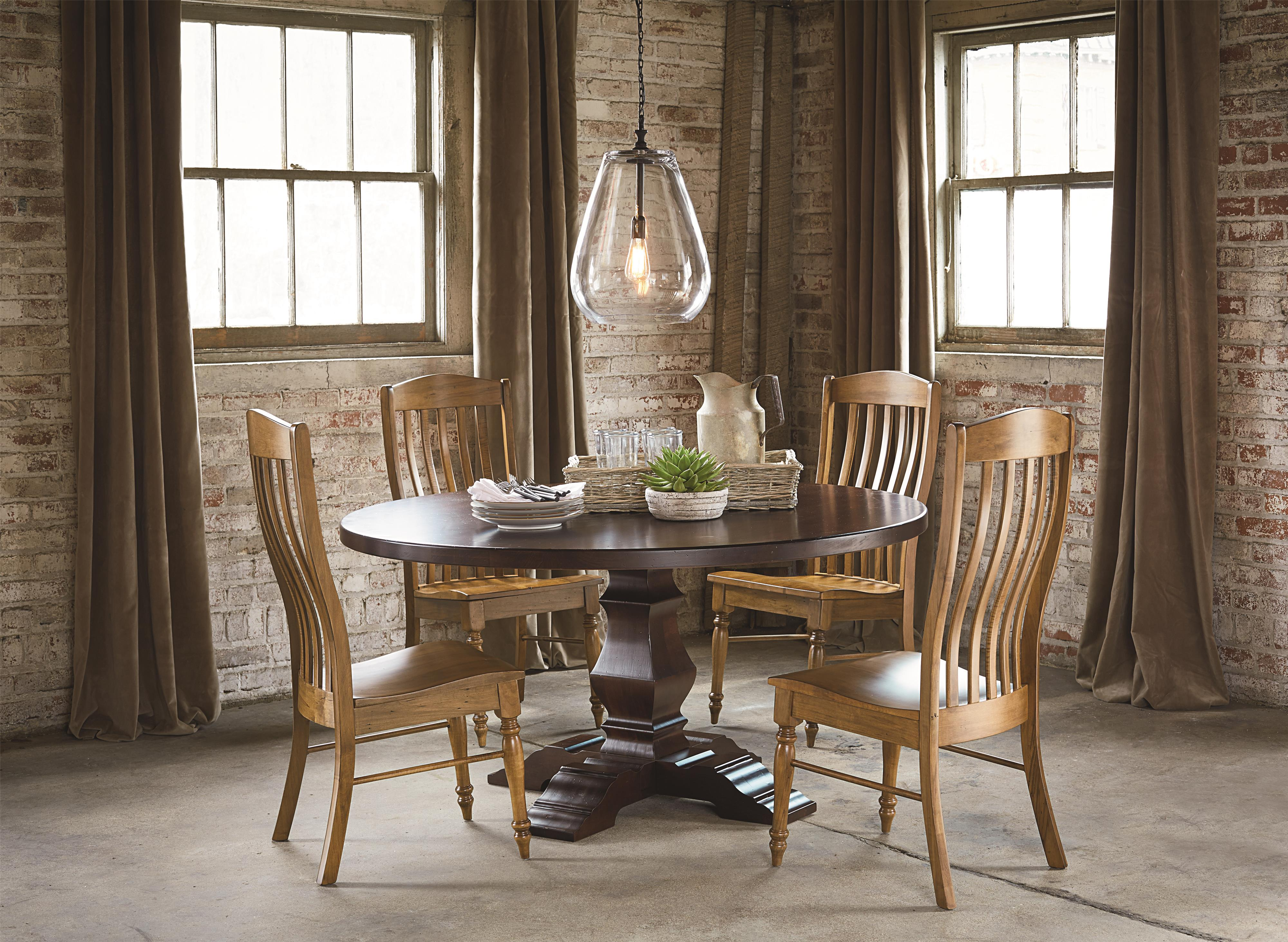 Bassett Bench Made Boone Transitional Arm Chair | Wayside Furniture |  Dining Arm Chairs