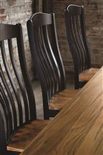 Gentle Curves on Chair Backs create a Flowing Beauty, a Style Element used to create Relaxing Auras
