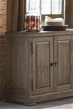 Simple Panels Accent this Serving Table and Buffet, Perfect for Storage in Your Dining Space