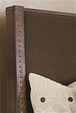 Upholstered Bed Features Beautiful Nailhead Trim