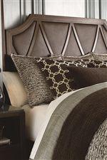 Geometric Headboard in Matching Leather