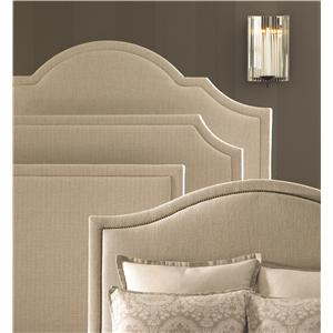 Bassett Custom Upholstered Beds Full Vienna Upholstered Headboard and Low Footboard Bed