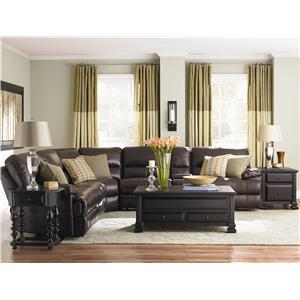 Bassett Dillon Reclining Sofa with Padded Arms