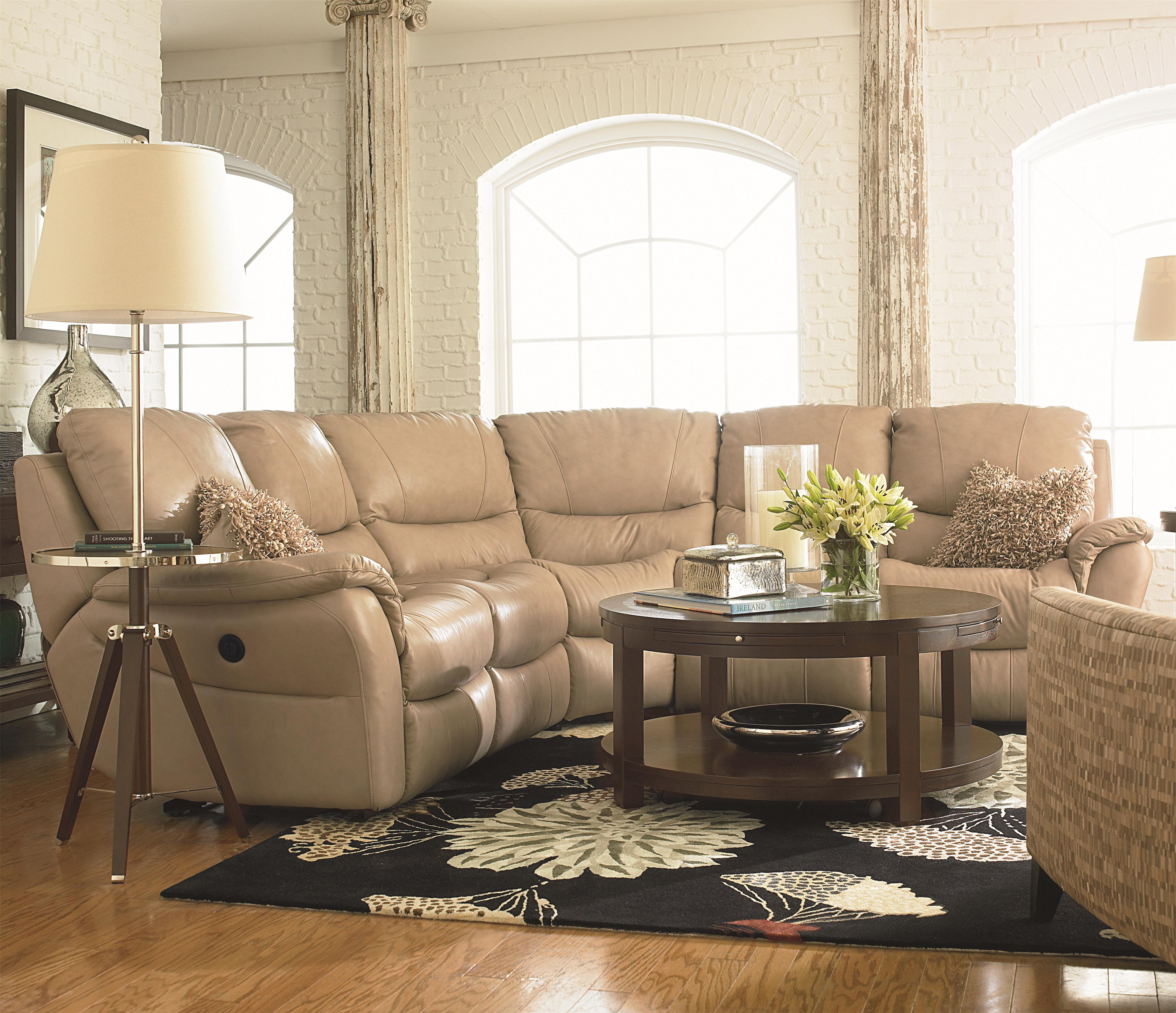 Bassett Drew Five Seat Reclining Motion Sectional Wayside
