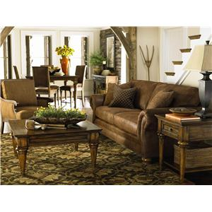Bassett Sonoma  Upholstered Sofa with Rolled Arms