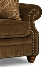 Classic Rolled Arms, Turned Feet and Decorative Nail Heads Add Traditional Style