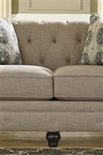 Tufted Back and Reversible Seat Cushions on Sofa and Loveseat