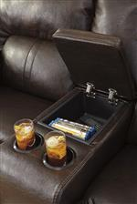 Loveseat with Center Storage Console and Cup Holders