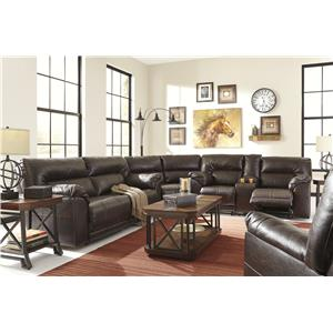 Benchcraft Barrettsville DuraBlend® Bonded Leather Match Rocker Recliner