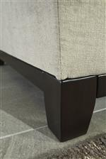 Tapered Feet and Exposed Rail in Dark Finish