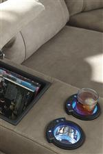 Console with Cup Holders and USB Chargers