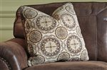 Accent Pillows with Fabric on One Side
