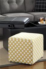 Storage Ottoman with Reversible Tray Tops and Cube Ottomans